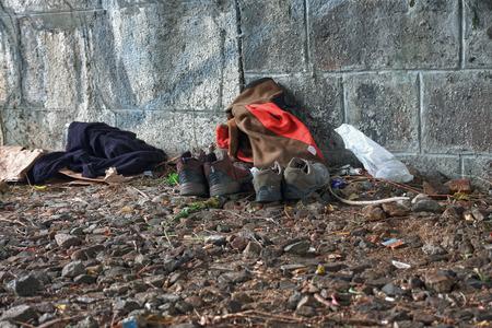 Under bridge,place where live homeless,hdr photo photo