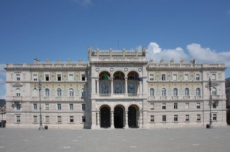 unite: The Goverment  palace on Piazza Unite in Trieste, Italy