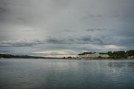 'saint nicholas': Tourist center on Saint Nicholas island, near of city Porec in Croatia