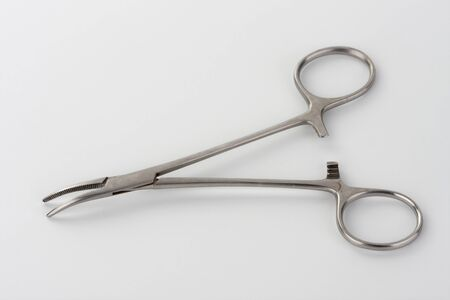 Mosquito Forceps , hemostatic forceps designed for controlling bleeding and handling blood vessels during surgery