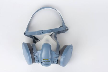 Twin filter half face respirator mask ,  personal protective equipment to protect against the virus covid-19.