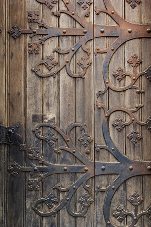 Detail of door at the st Elizabeth cathedral in Slovakian city Kosice photo