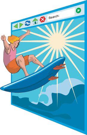 net surfing: Navigare in rete