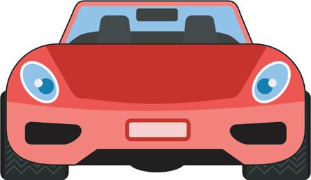 scheinwerfer: Rote Auto Vorderansicht