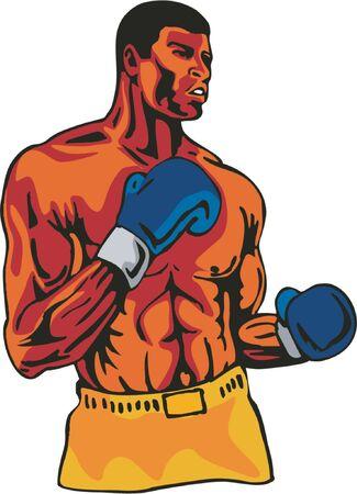 Boxer posing Stock Vector - 1372811