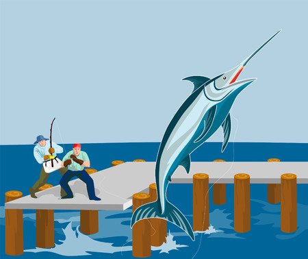 Fishing at the pier