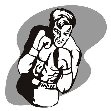 jab: Boxer posing