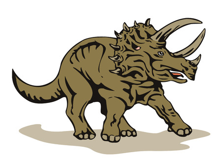triceratops Stock Vector - 1391097