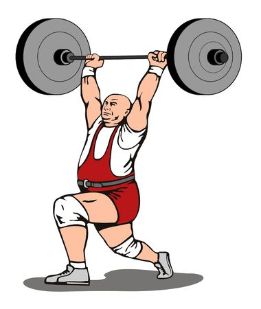weightlifting: Weight lifter Illustration