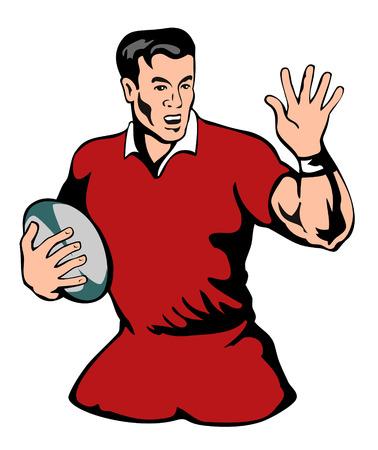 oposicion: Rechazar el jugador de rugby de la oposici�n