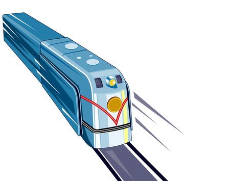 speedy: Retro styled speeding train