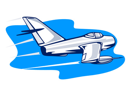 supersonic: Supersonic jet fighter attacking Illustration