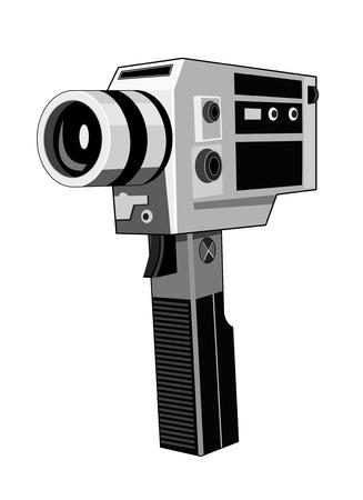 Vintage camcorder Vector