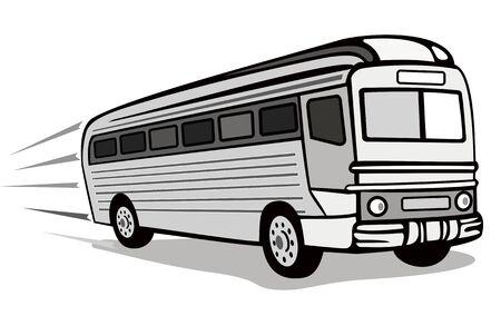 vector tyre: 1930s coach bus