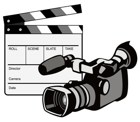 camara de cine: La c�mara de v�deo con Clapper