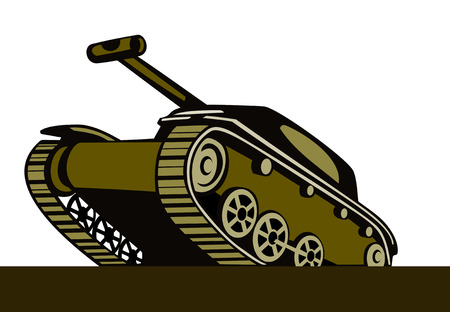 battle tank: Batalla de tanques  Vectores