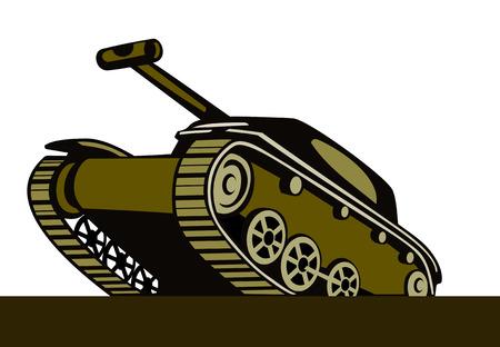 Battle tank Stock Vector - 1647351