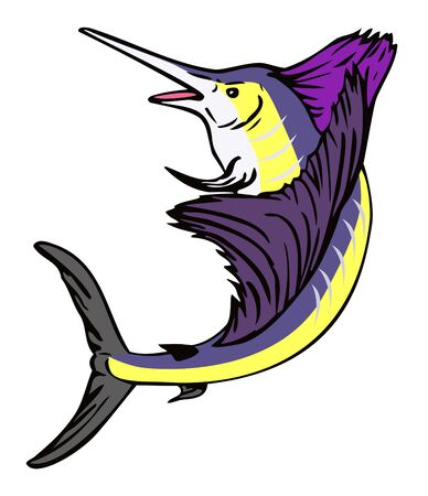 pez vela: Pez vela saltando fuera del agua
