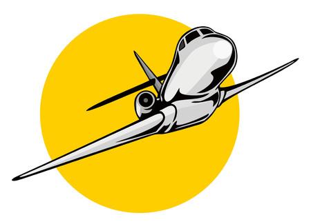 aircraft take off: Jet plane taking off