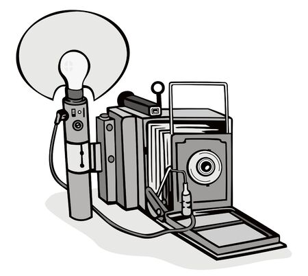folding camera: Vintage camera