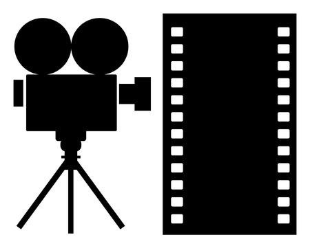 camara de cine: Icono de c�mara de pel�cula