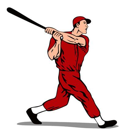 batting: Baseball batter striking
