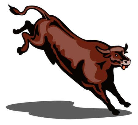 Bucking bull Stock Vector - 1798637