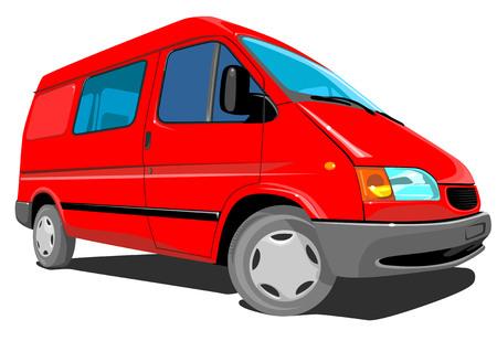 transport of goods: Red Delivery Van