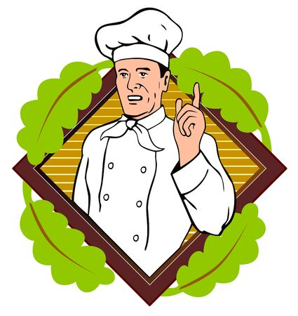 Chef pointing a finger Vector