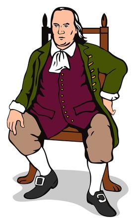 statesman: Gentleman seated on a chair