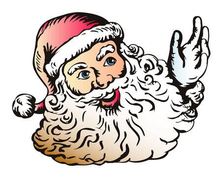 kringle: Santa Claus woodcut style