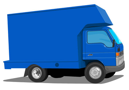 Blue Moving Van Stock Vector - 2021120