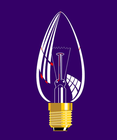 incandescent: Candle Light Bulb Illustration
