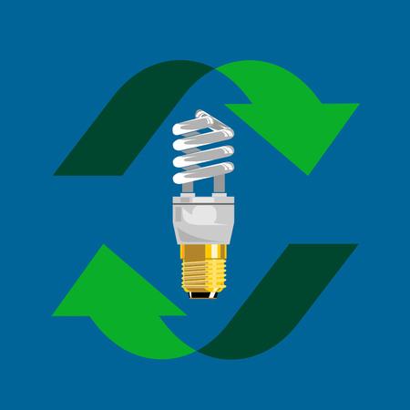 Compact Fluorescent Light Bulb Vector