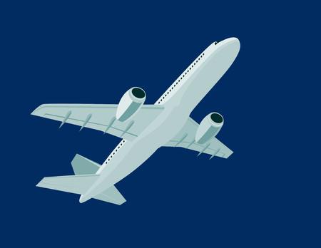 Jet plane overhead Vector