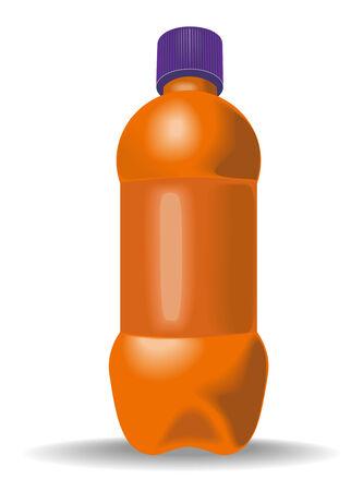 Plastic bottle orange Vector