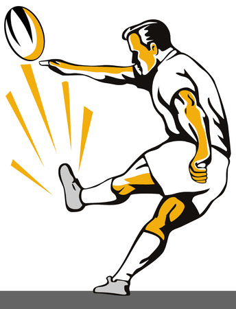 Rugby goal kick Illustration