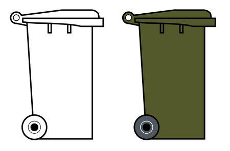 Garbage bin with wheels Stock Vector - 2087297