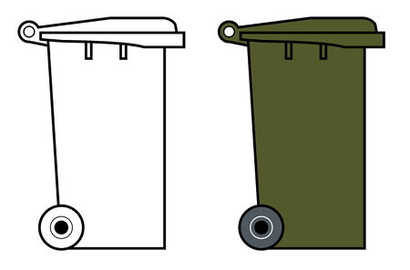 Garbage bin with wheels