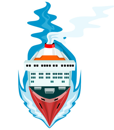 stern: Passenger ship as steaming towards you