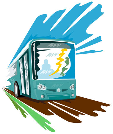 Speeding bus coach Stock Vector - 2117933