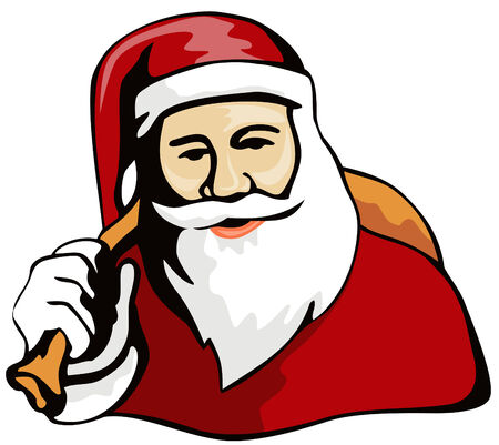 Santa bearing gifts Stock Vector - 2186058