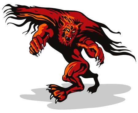 wilkołak: Werewolf o ataku Ilustracja