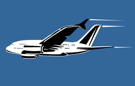 Jet plane in full flight Stock Vector - 2323458
