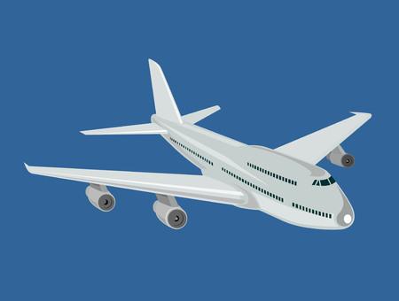 Airline in full flight Vector