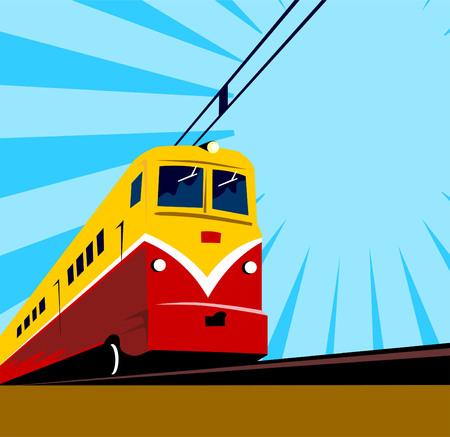 Electric train Vector