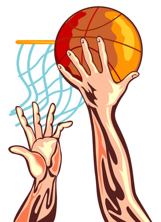Basketball player dunking Vector