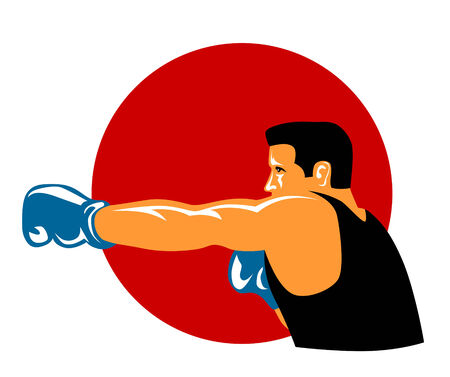 jab: Boxer punching