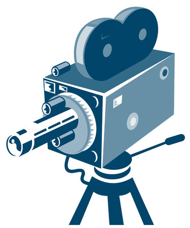 handycam: Vintage movie camera Illustration
