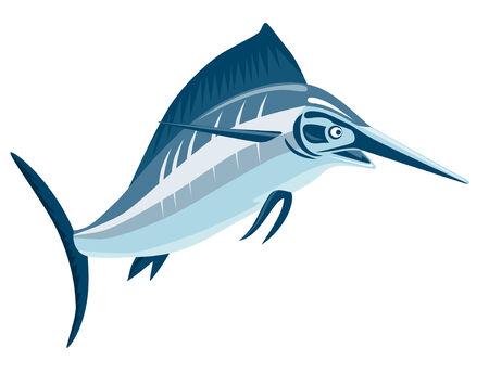 Swordfish on white Stock Vector - 2355118